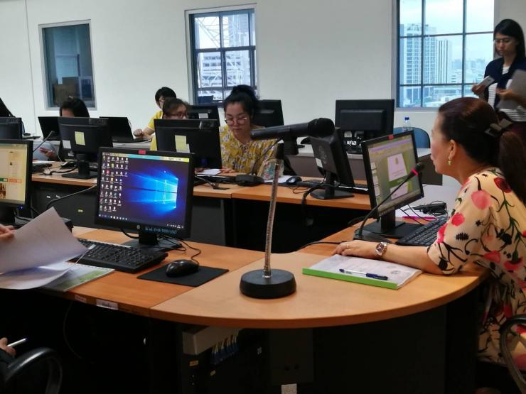 """ศทส.จัดฝึกอบรมเชิงปฏิบัติการ หลักสูตร """"การบริหารจัดการข้อมูลศูนย์ปฏิบัติการกรม (DOC) และศูนย์ปฏิบัติการจังหวัด (POC) สำหรับผู้ใช้งาน"""" รุ่นที่ 1"""